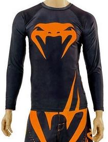 Рашгард с длинным рукавом Venum Challenger CO-5248-OR черно-оранжевый