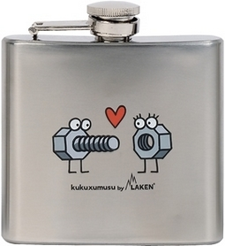Фляга карманная Laken Kukuxumusu Hip Flask 150 мл Enrosque