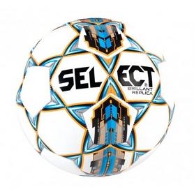 Мяч футбольный Select Brillant Replica 4 белый/синий