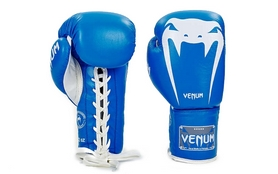 Перчатки боксерские кожаные Venum Giant VL-5786-B синие