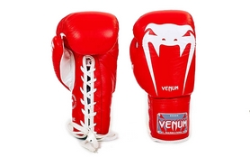 Перчатки боксерские кожаные Venum Giant VL-5786-R красные