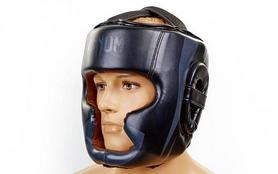 Шлем с полной защитой боксерский кожаный Venum Elite Neo BO-5339-BK черный