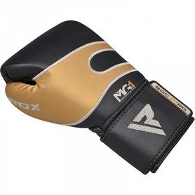 Фото 3 к товару Боксерские перчатки RDX Leather 40249 Black Gold