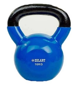 Гиря виниловая TA-5161 16 кг синяя