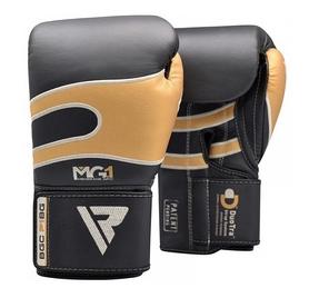 Боксерские перчатки RDX Leather 40249 Black Gold