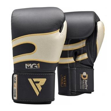 Боксерские перчатки RDX Leather 40248 Black White