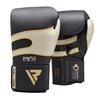 Боксерские перчатки RDX Leather 40248 Black White - фото 1