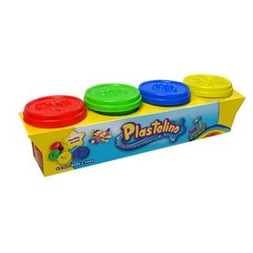 Набор массы для лепки Plastelino 4 цвета