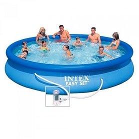 Бассейн надувной семейный Intex 28180 (457х84 см) с фильтрующим насосом и аксессуарами