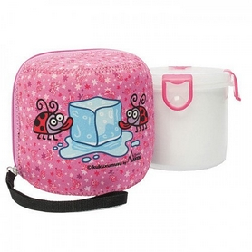 Термос пищевой Laken PP food container 680 мл w.neoprene cover розовый