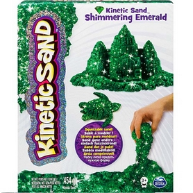 Песок кинетический Kinetic Sand & Kinetic Rock Metallic зеленый 454 г