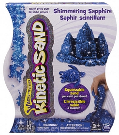 Песок кинетический Kinetic Sand & Kinetic Rock Metallic синий 454 г