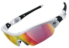 Очки спортивные Exustar CSG09-4IN1, белые