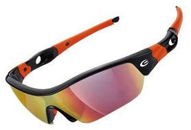 Очки спортивные Exustar CSG09-4IN1, черно-оранжевые