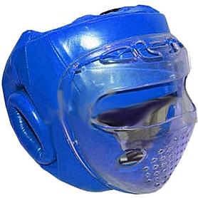 Шлем с пластиковой маской кожанный Matsa