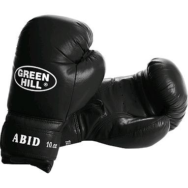 Перчатки боксерские Green Hill Abid черные