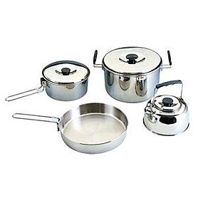 Фото 1 к товару Набор стальной  посуды походный Кемпинг