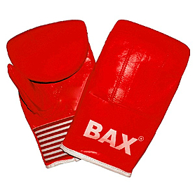 Перчатки снарядные кожаные Green Hill Bax красные