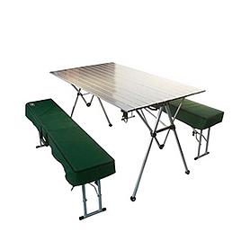 Стол раскладной + 2 скамейки Tramp TRF-018