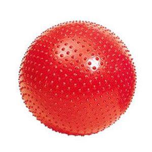Мяч для фитнеса (фитбол) массажный 75 см Pro Supra красный