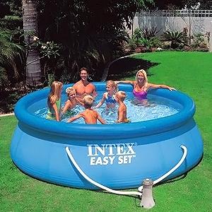 Бассейн надувной Intex 56932 (366x91 см) с фильтрующим насосом