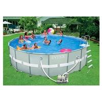 Бассейн каркасный Intex 54472 (549x132 см) с фильтр. насосом, хлорогенератором и аксессуарами