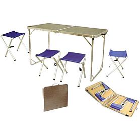 Стол раскладной + 4 стула Tramp TRF-005