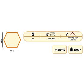 Тент универсальный Sol 4,4х4,4 м