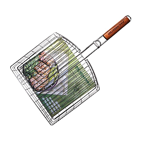 Фото 1 к товару Решетка-корзина для мяса на кости 32 x 35 см Кемпинг