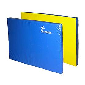 Мат гимнастический 100х120х8 см желто-синий