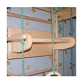 Фото 3 к товару Спортивный уголок 240 см (шведская стенка + гладиаторская сетка) из бука 467-344-9