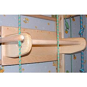 Фото 2 к товару Спортивный уголок 240 см с гимнастическим матом, навесным турничком, брусьями (до 50 кг) и доской 180 см