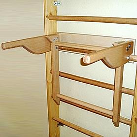 Фото 2 к товару Спортивный уголок 210 см (шведская стенка + гладиаторская сетка) из бука 467-344-6