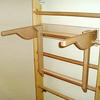 Спортивный уголок 210 см (шведская стенка + гладиаторская сетка) из бука 467-344-6 - фото 2