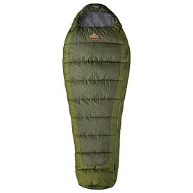 Фото 1 к товару Мешок спальный (спальник) трёхсезонный Pinguin Trekking L PNG 2115 левый зеленый
