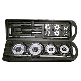 Фото 2 к товару Штанга + гантели наборные хромированные 50 кг SS-SC-8041