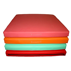 Мат гимнастический 100х100х10 см (оранжевый)
