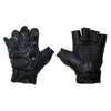 Перчатки для фитнеса без пальцев (кожа) - фото 1