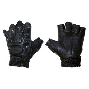 Перчатки для фитнеса без пальцев (кожа)