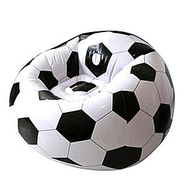 Фото 1 к товару Кресло-мяч надувное Bestway 75010 + Насос ручной Double Quick Intex 68612