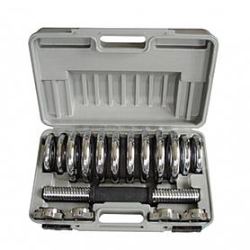 Фото 1 к товару Гантели наборные хромированные в коробке 2 шт по 7,5 кг SS-2322C