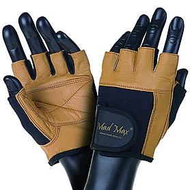 Перчатки спортивные Mad Max Fitness коричневые