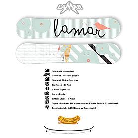 Фото 1 к товару Сноуборд женский Lamar Pixie LMBD1154