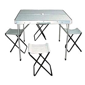 Стол раскладной + 4 стула 8833