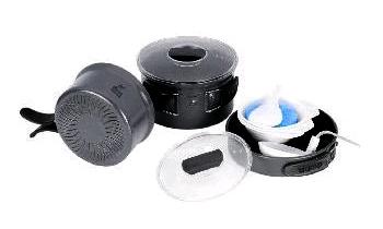 Набор посуды из анодированного алюминия на 2-3 персоны (профилированное дно) Tramp
