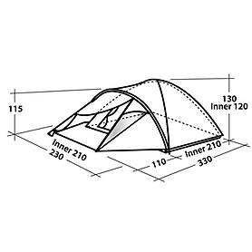 Фото 2 к товару Палатка трехместная Easy Camp Go Phantom 300