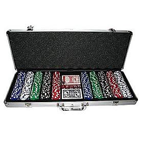 Набор для игры в покер 500 фишек с номиналом
