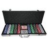 Набор для игры в покер 500 фишек с номиналом - фото 1