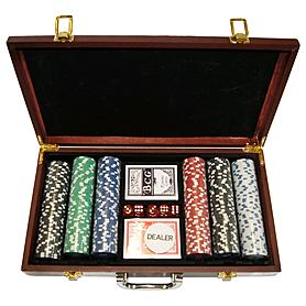 Фото 3 к товару Набор игровой для покера, 300 фишек - уцененный*