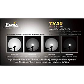 Фото 3 к товару Фонарь тактический Fenix TK30 Cree MC-E LED